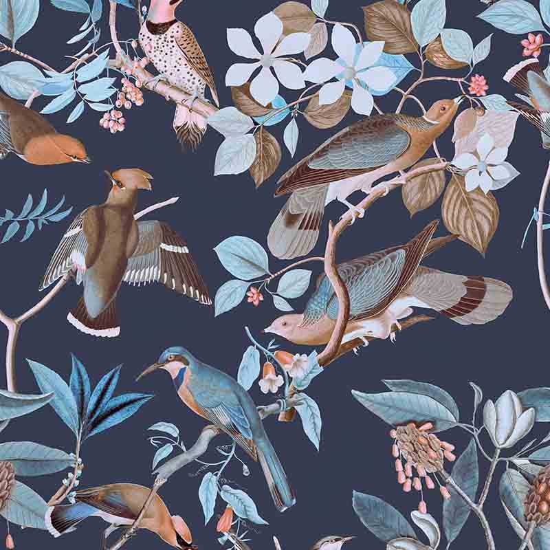 טפט Vintage Birds – Dawn