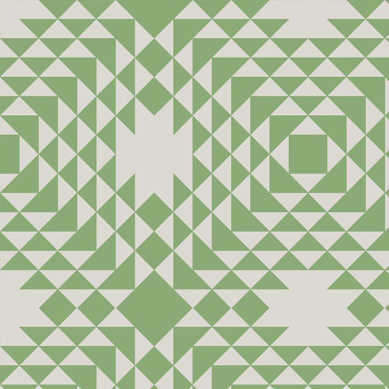 טפט Geometric Green