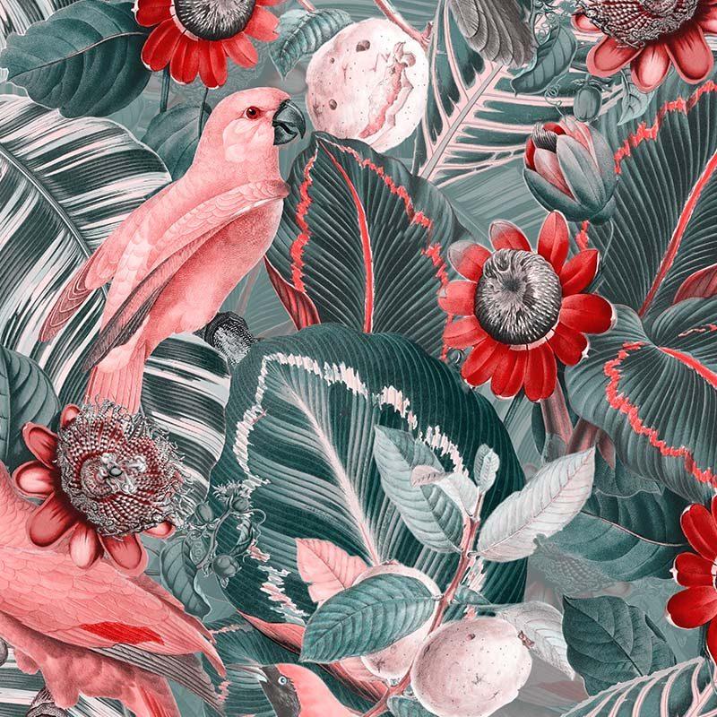 טפט Parrots In Passiflora