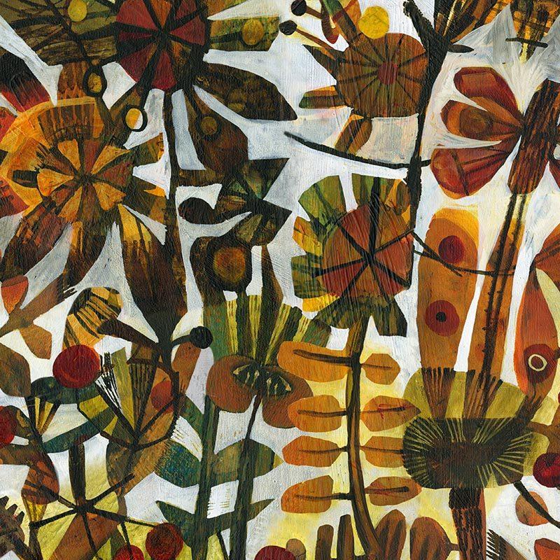 טפט Amber Flowers
