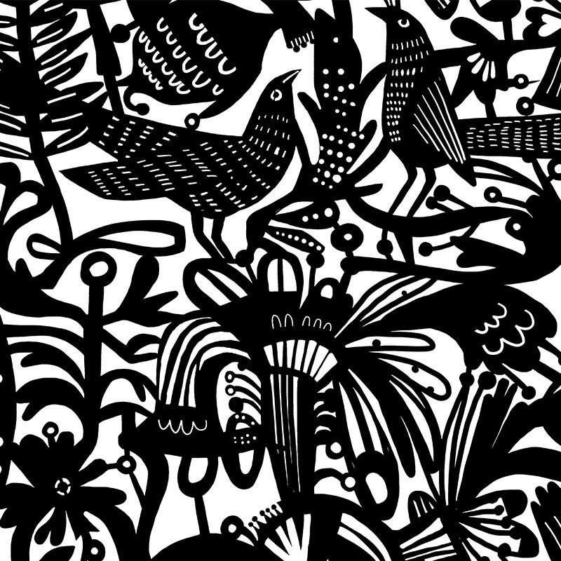 טפט Black Bird