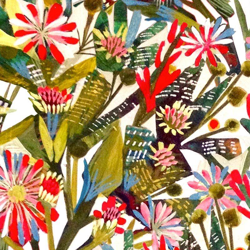 טפט Summer Fig Flowers