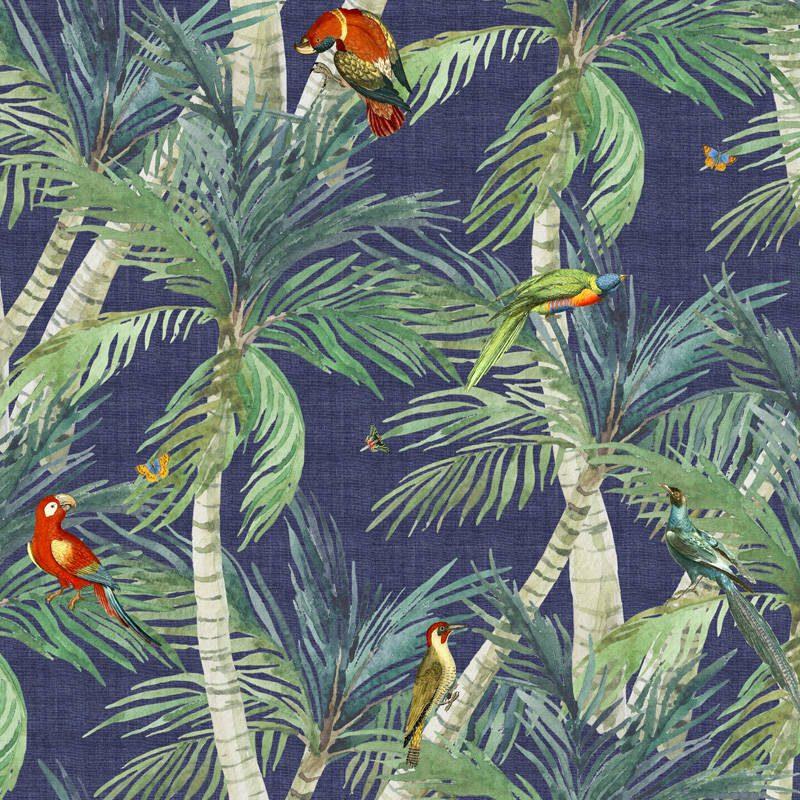טפט Palm Exotic Birds