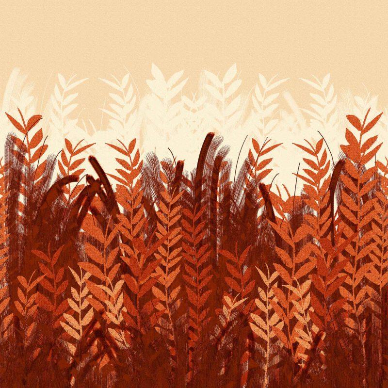 טפט Season Blood Red Fall